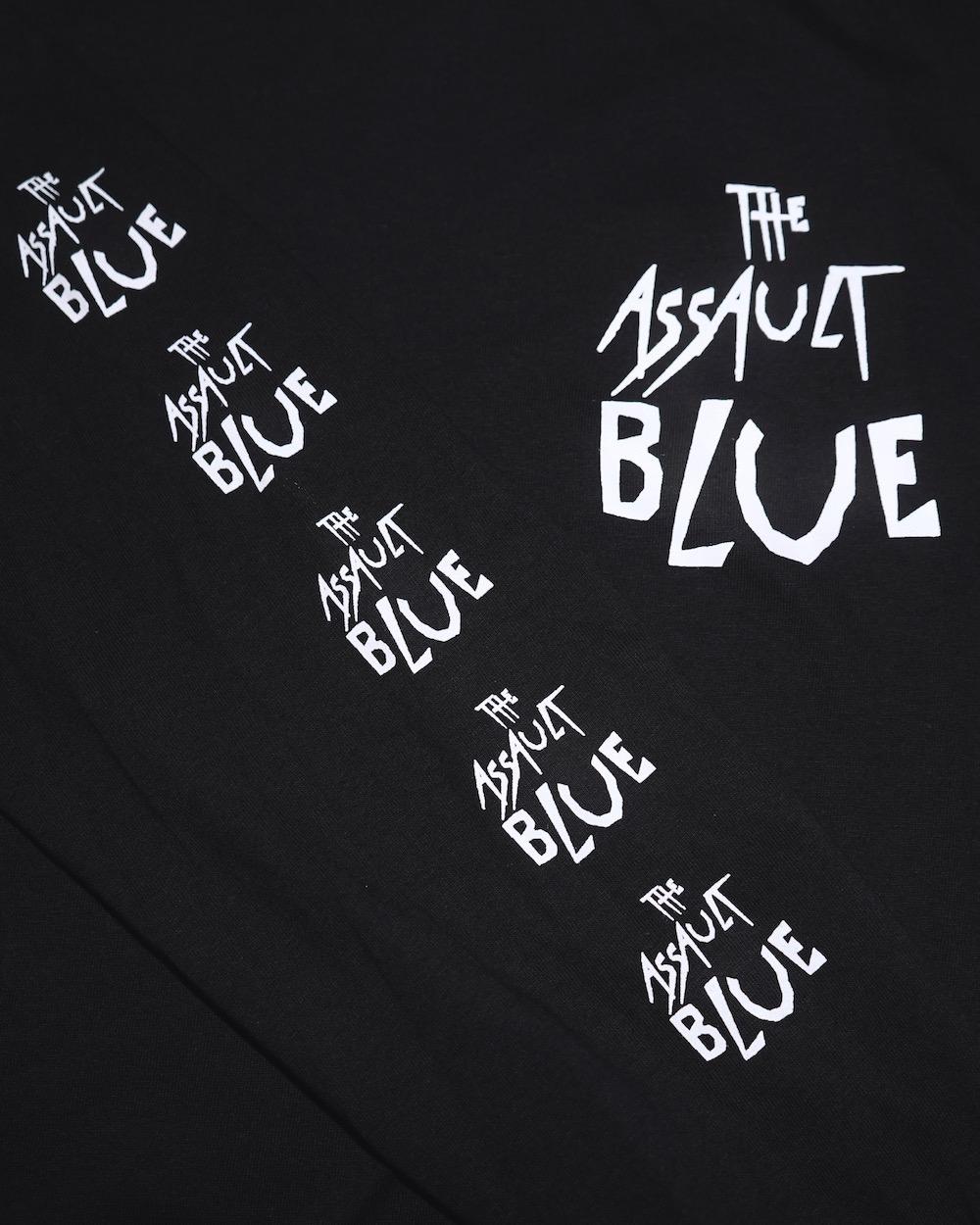 Scratch Logo Sleeve Big  L/S TEE (black) -ASSAULT BLUE-