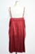 Lace Trim Satin Cami-Onepiece(red)