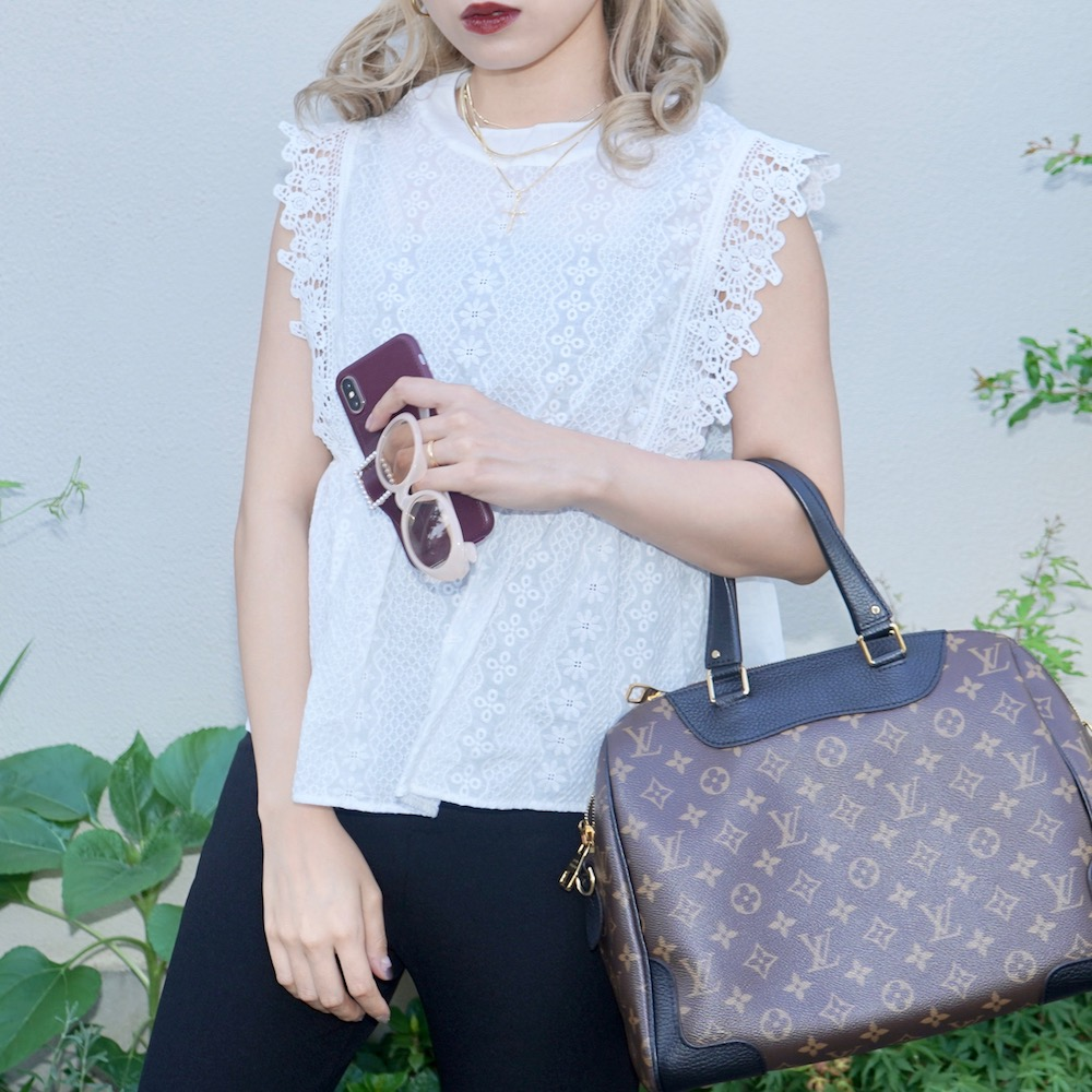 Cutwork Lace Nosleeve Tops(white)