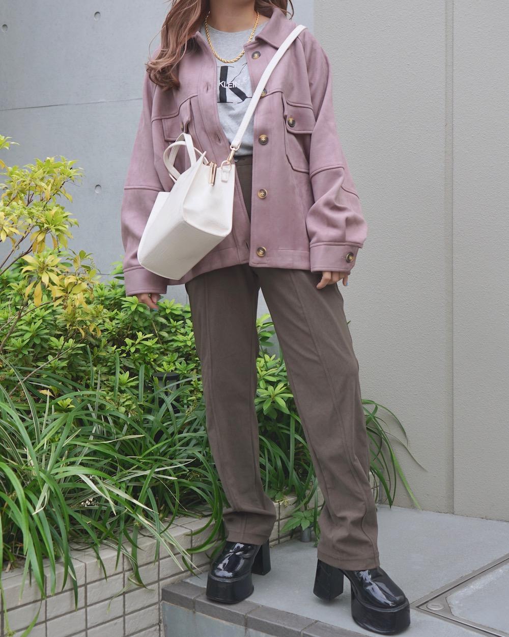 High Waist Stretch Pants(mocha brown)