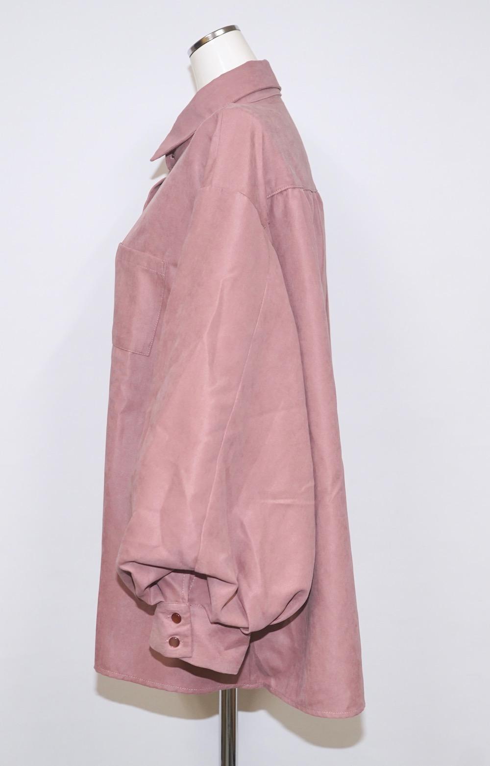 Balloon Sleeve Shirts (dusty pink)