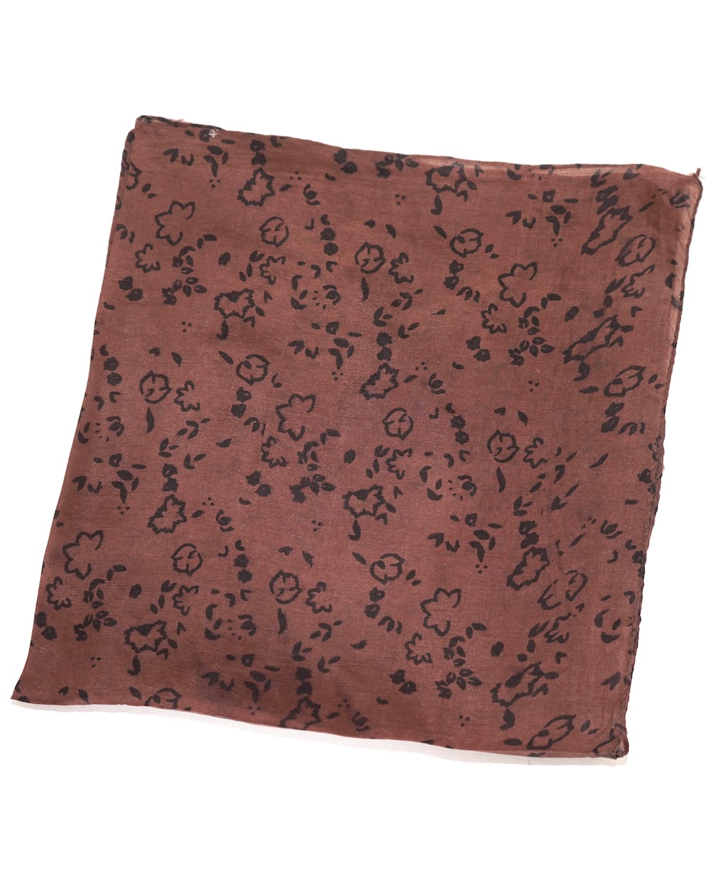 Flower Leopard Silk Scarf (brown)