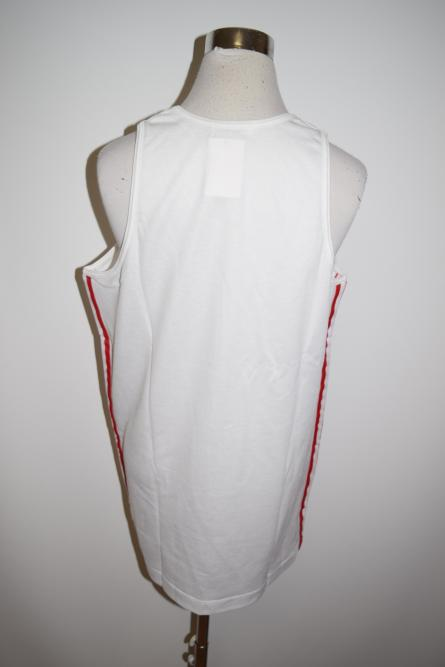 adidas 3line Tank(White/RedLine)