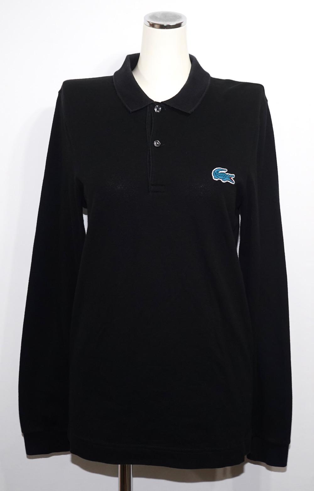 """LACOSTE"" 1point Logo L/S Polo Shirts (black)"