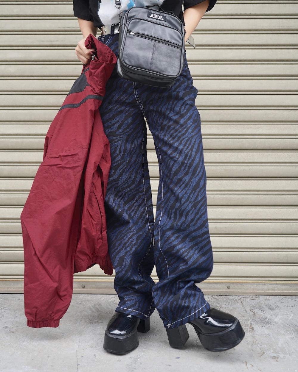 Zebra Denim Pants (indigo)