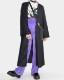 Lace Trim Black Long Gown