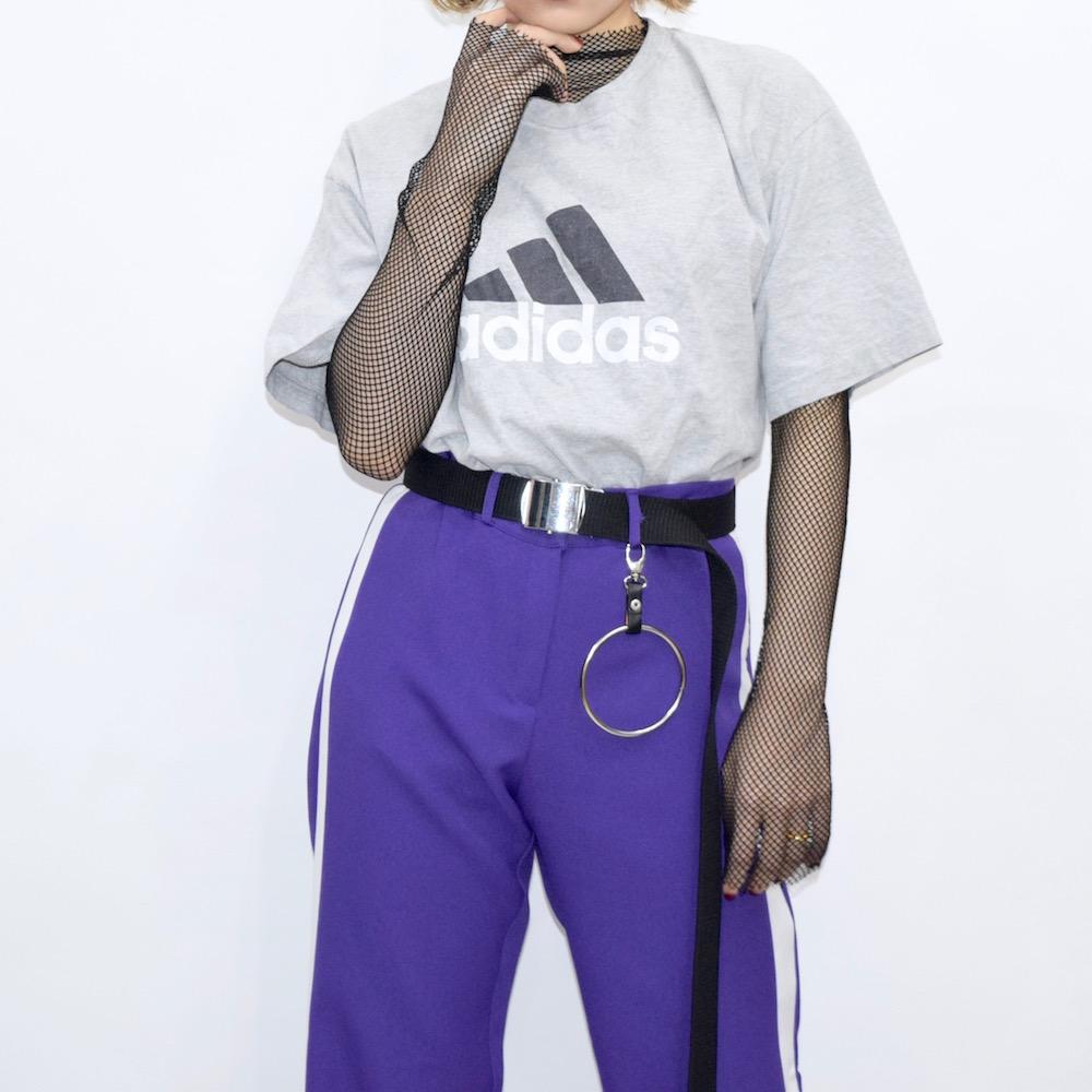 """adidas"" Performance Logo Big TEE (gray)"