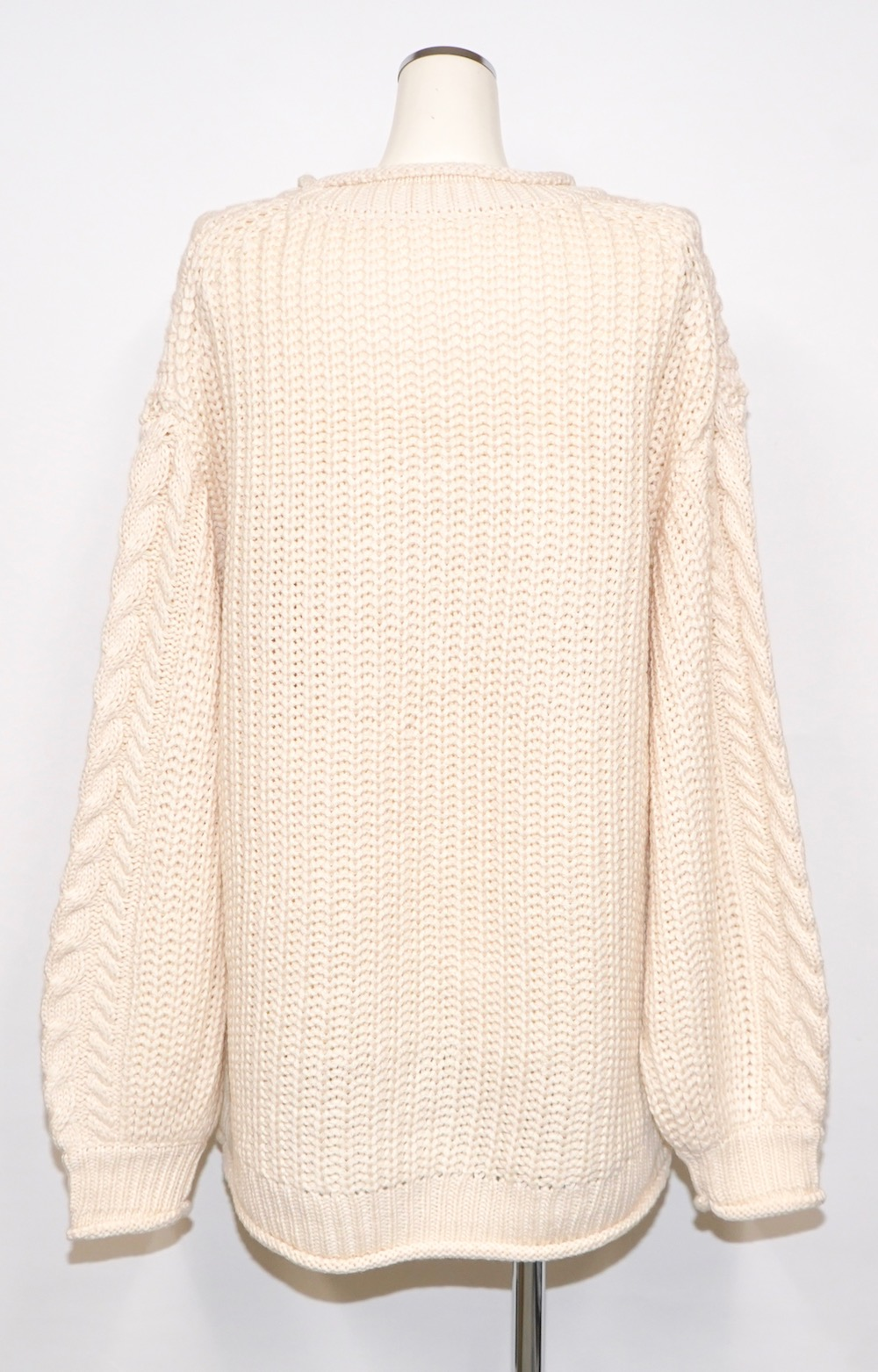 Cable Knit Loose Tunic (off white)