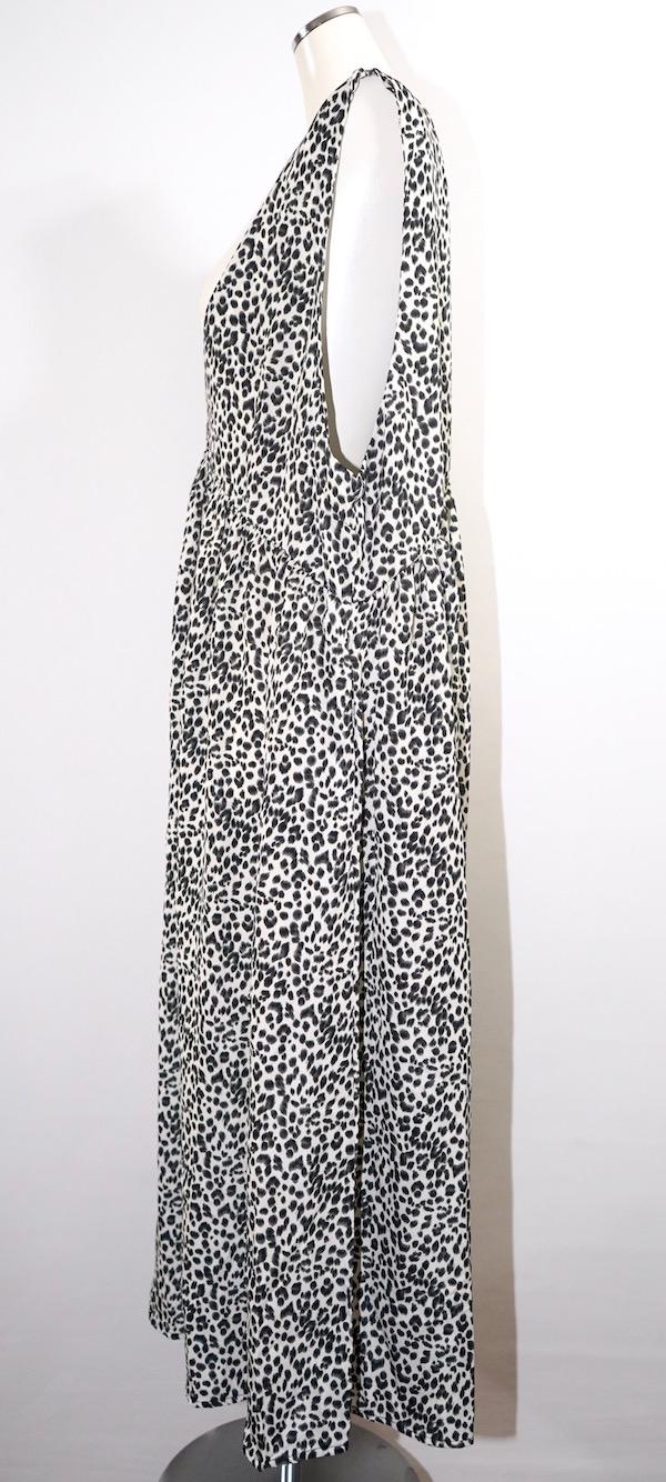Leopard Flare Long Jumper Skirt