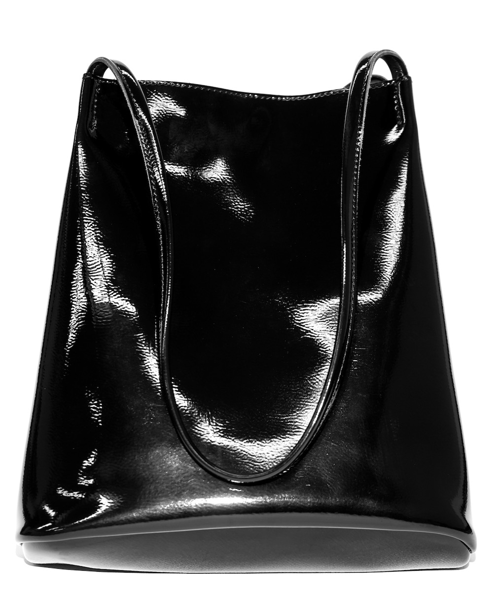 Enamel Tote-Bag *with pouch(black)