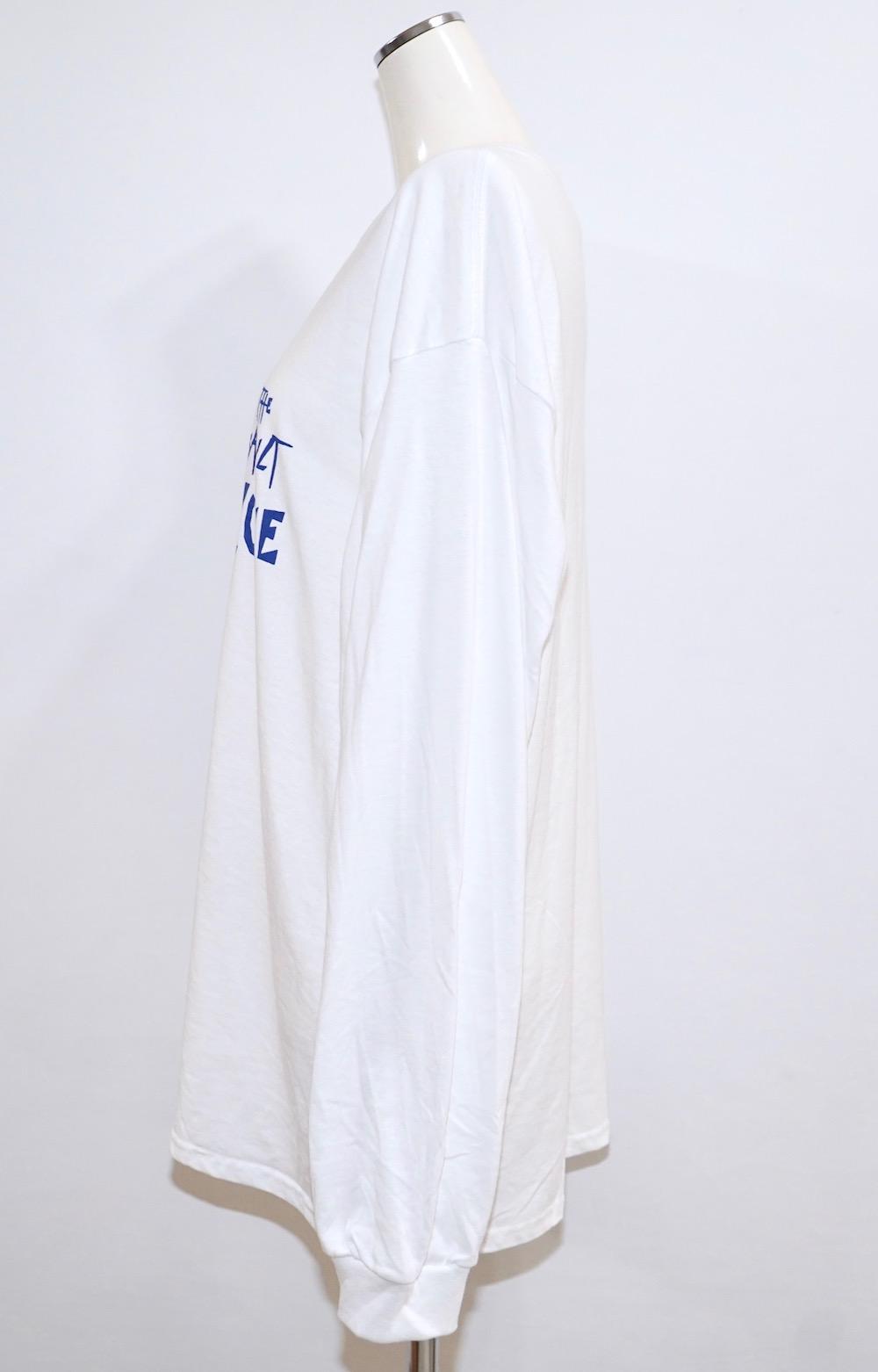 Scratch Logo Sleeve Big  L/S TEE (white) -ASSAULT BLUE-