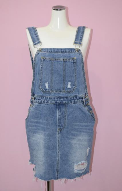 Crash Denim Jumper Skirt