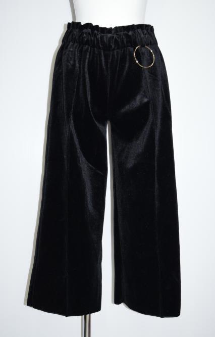 """(全2色)""""GOLD RING"""" Velours Wide Pants"""