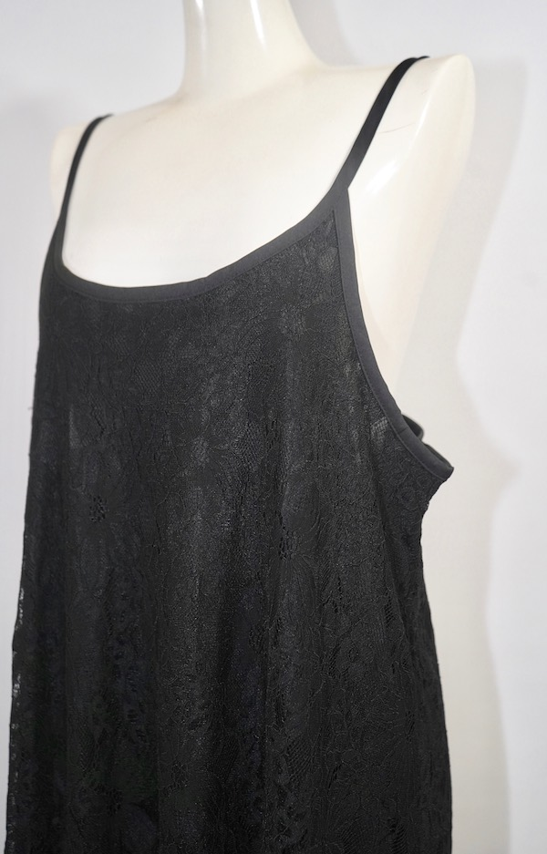 All Lace Flare Cami-Onepiece (black)