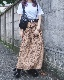 Leopard A-Line Long Skirt (brown)