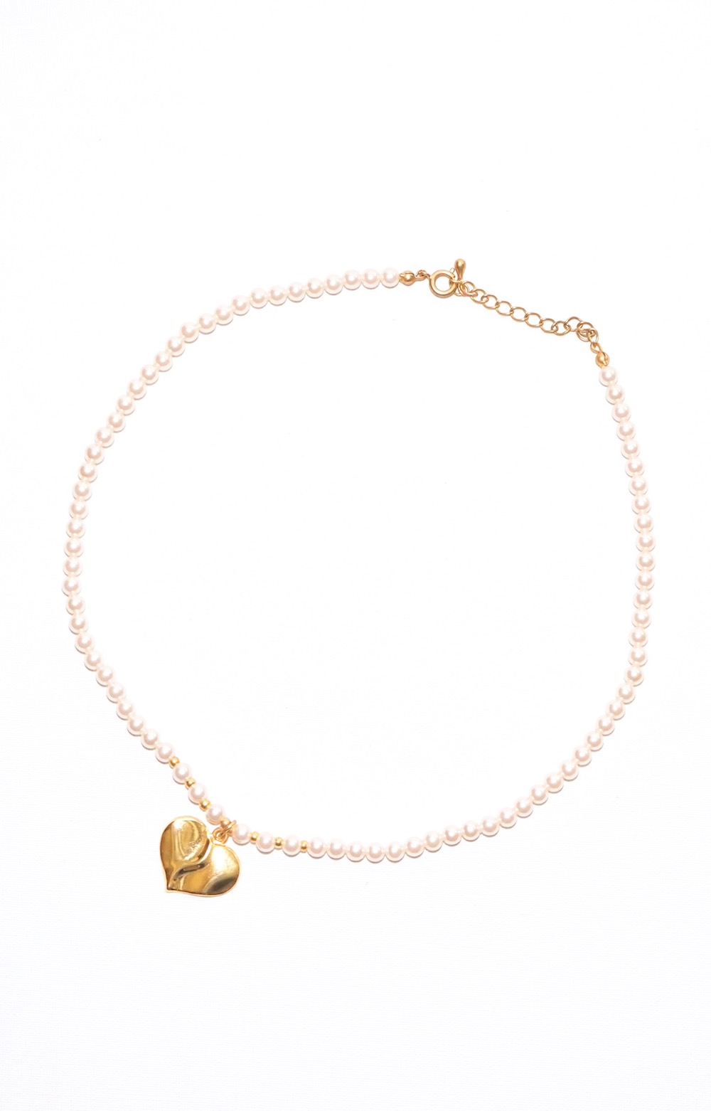 Heart Motif Pearl Necklace