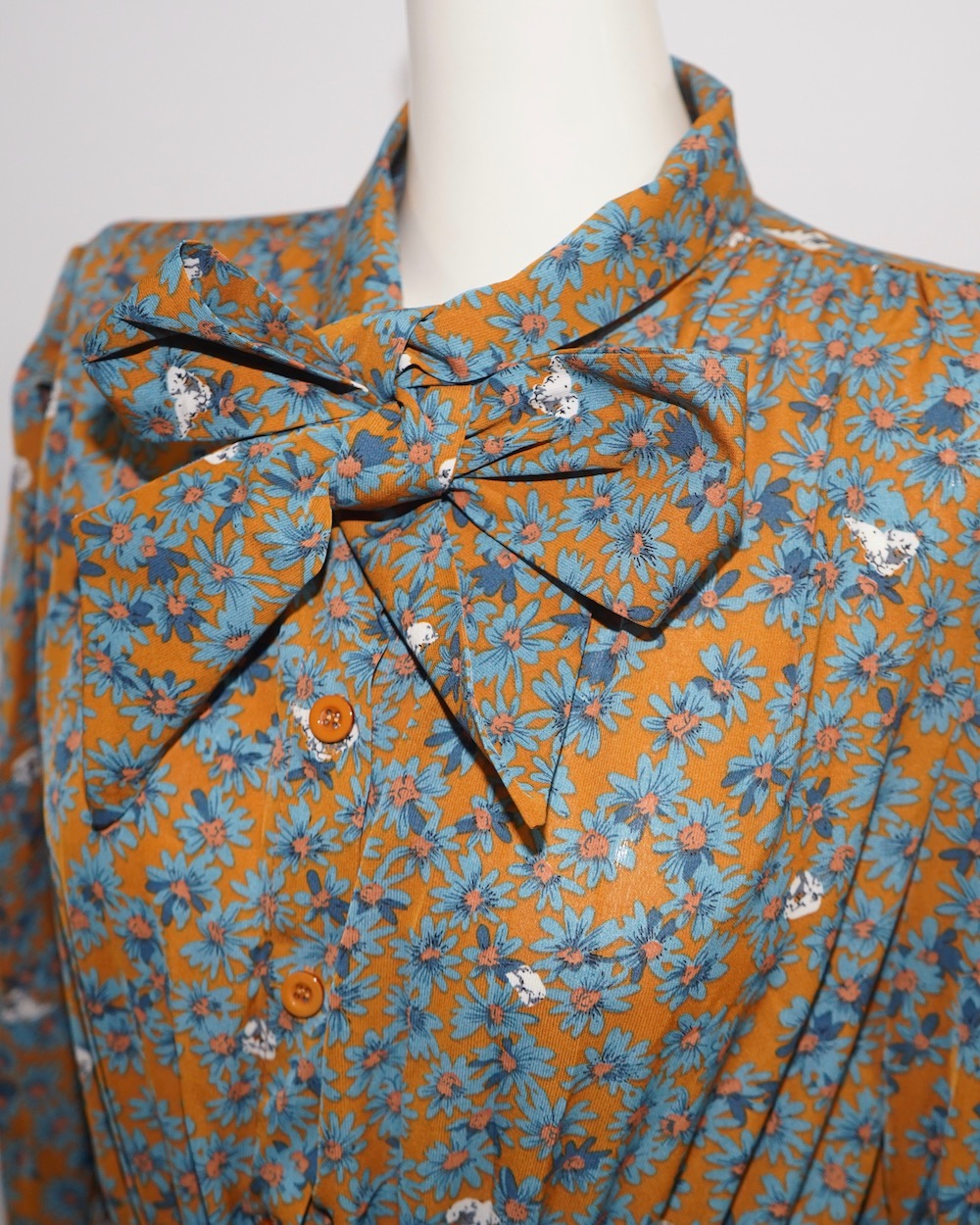 Tie&pleats Retro Flower Onepiece