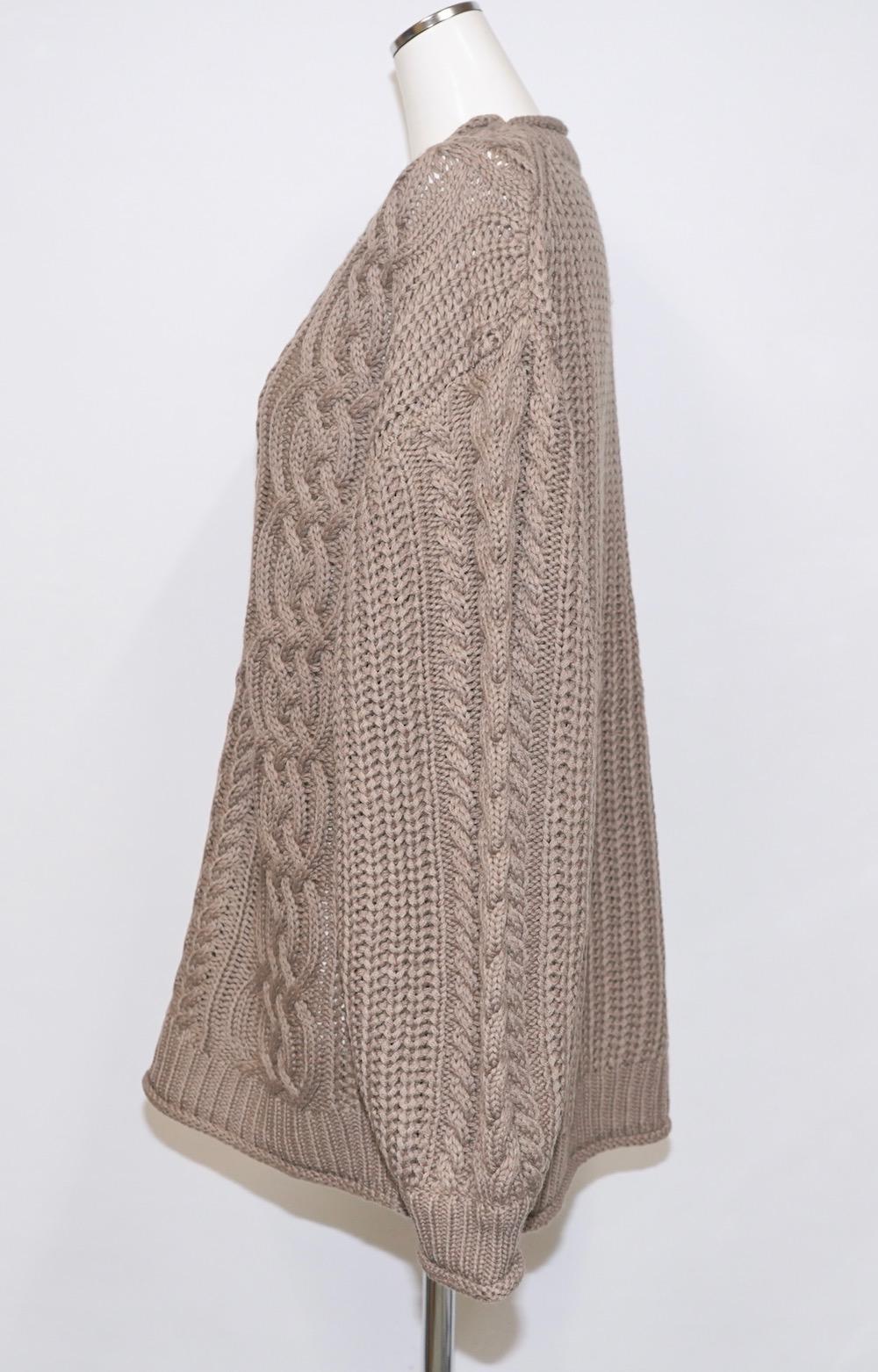 Cable Knit Loose Tunic (mocha)