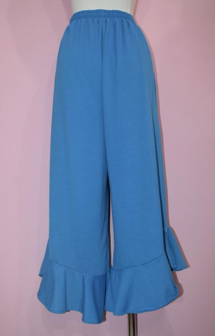 HEM-FRILL EASY WIDE PANTS(TQS)