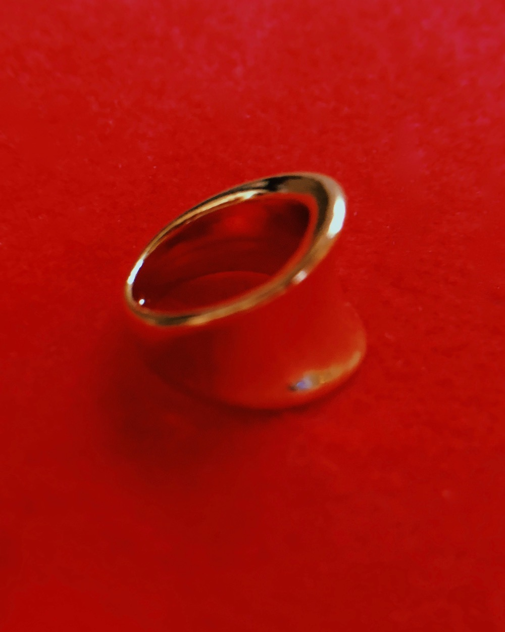 Gold Wide Flat Curved Ring