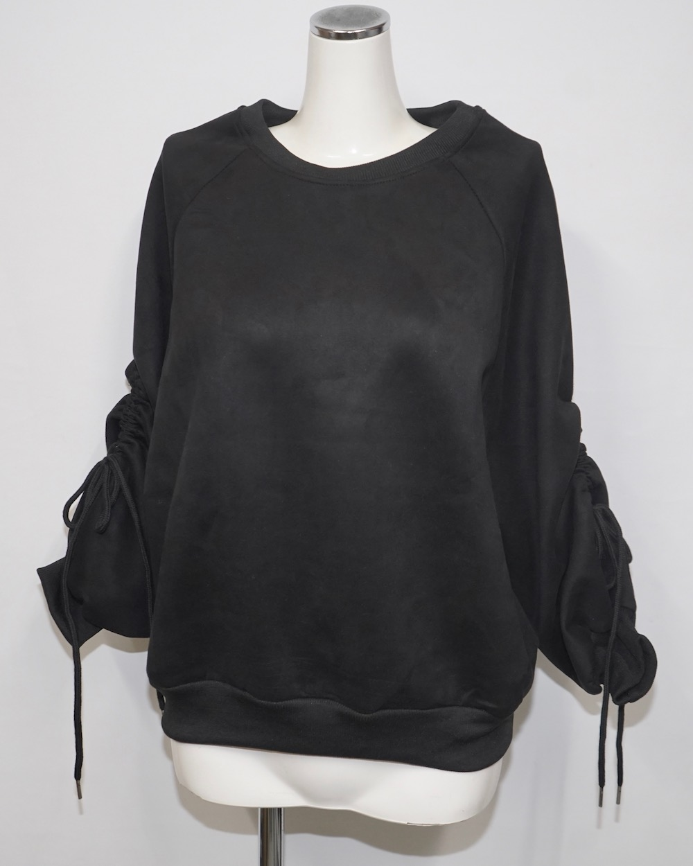 Ribbon Strings Sleeve Big Sweat PO (black)