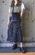 2way Switching Black Denim Skirt