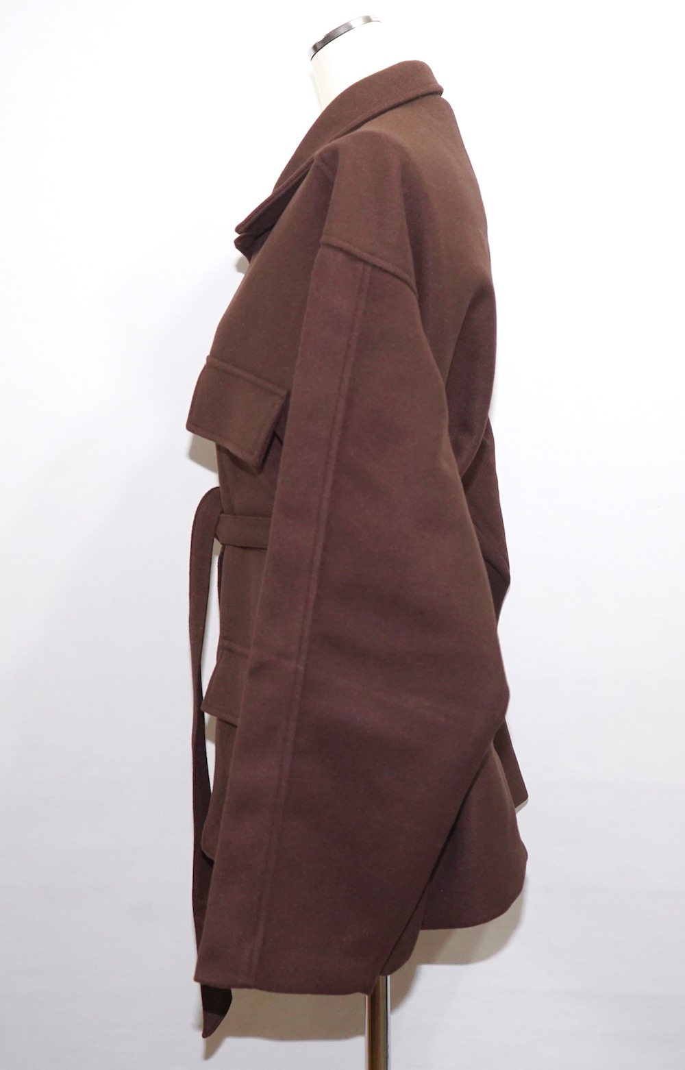 Wool Touch Oversized BDU Jacket (brown)