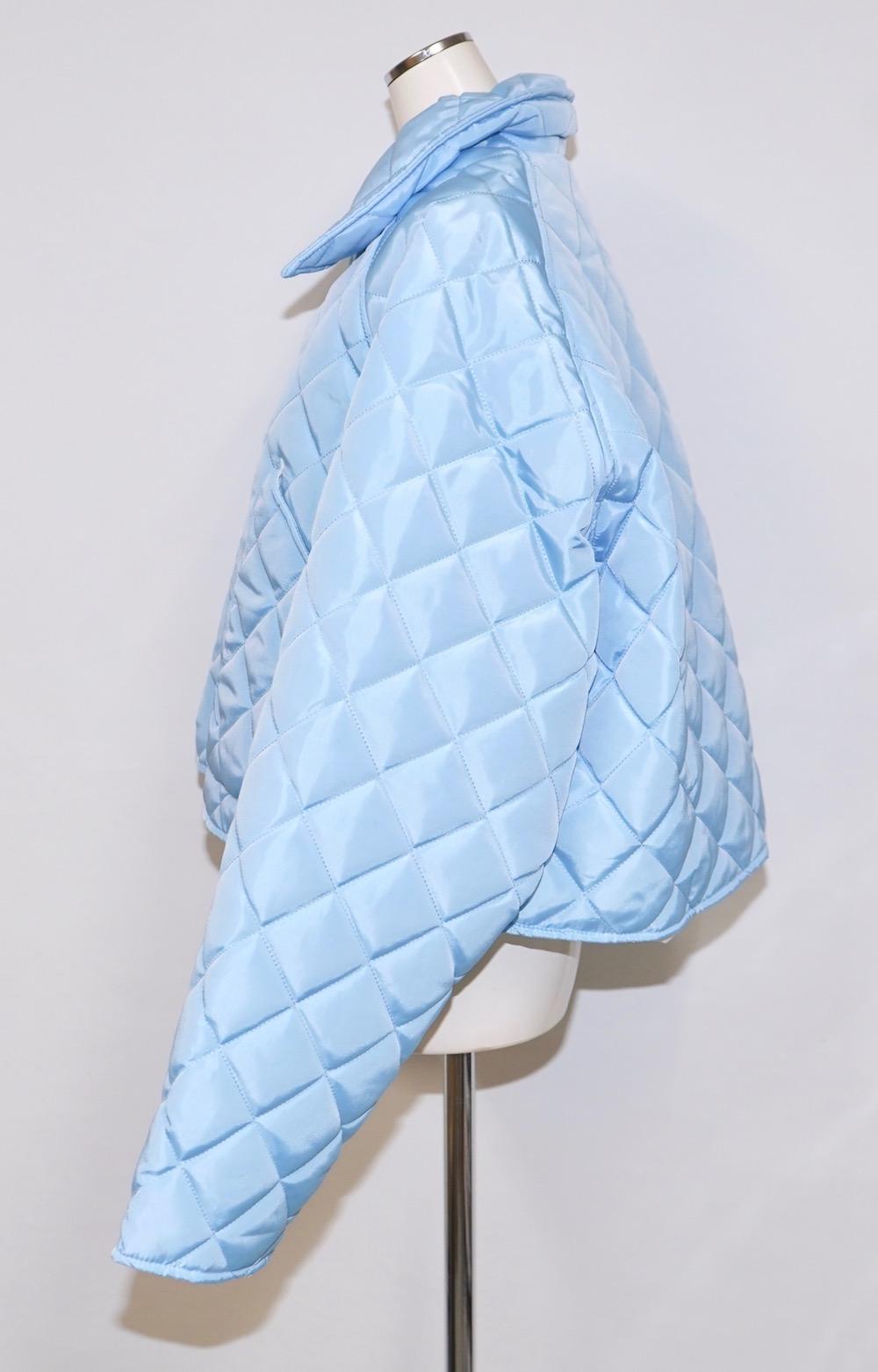 Padding Quilting Jacket (light blue)