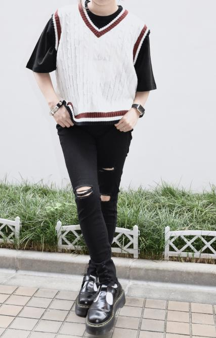 (全2色)Cable Knit Vest