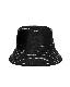 White Stitch Black Bucket Hat