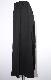 Slit Design Belted Flare Long Skirt (black)