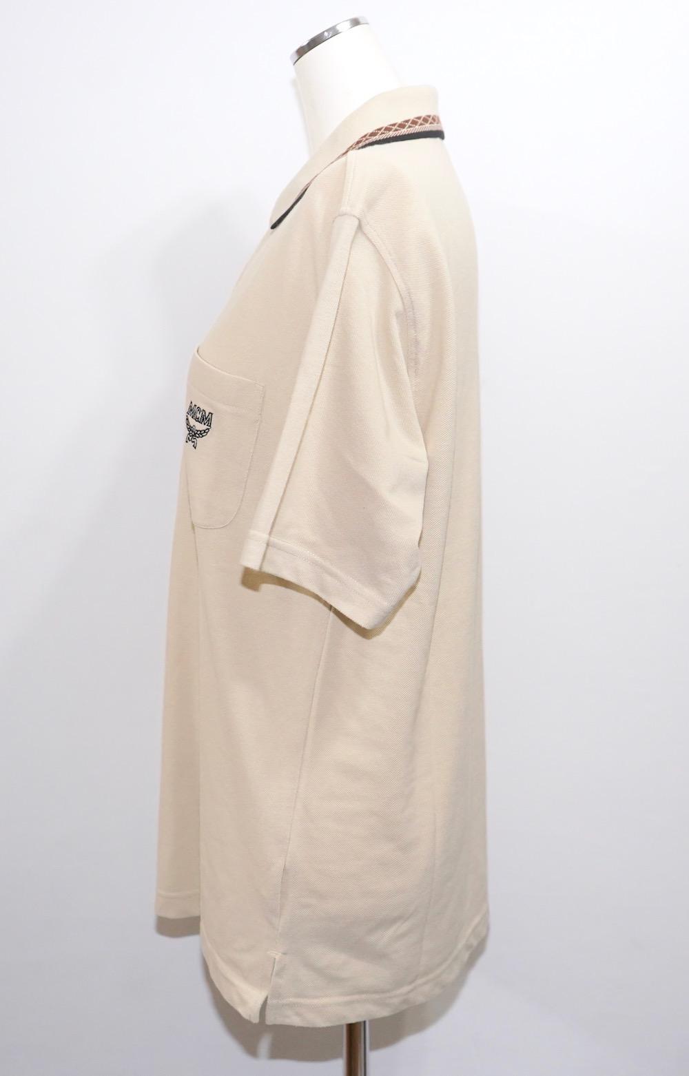 """MCM"" 1point Logo Polo Shirts (beige)"
