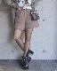 Sweat Half Pants (mocha brown)