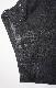 Black Denim Wide Carved Pants