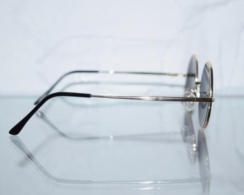 ブラックレンズサークルサングラス