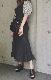 Black Denim Slit Mermaid Long Skirt