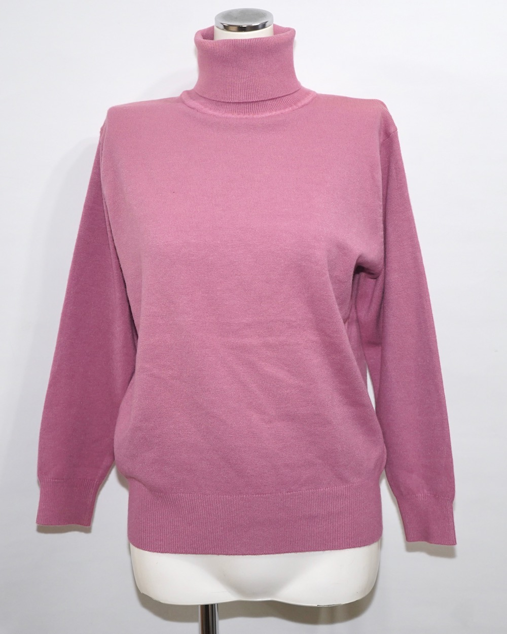 Basic Turtle Neck Knit Tops(pink)