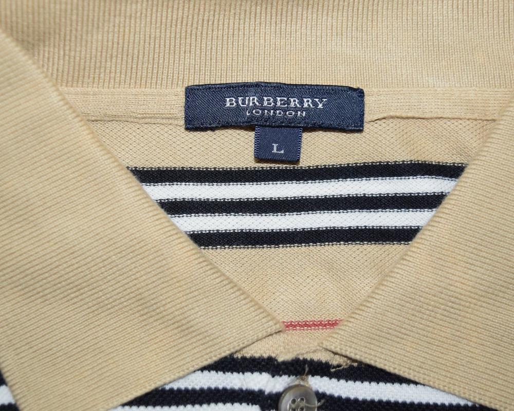 """BURBERRY LONDON"" BORDER POLO SHIRTS(beige)"