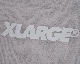 """X-LARGE"" Logo Half Sleeve T-shirts (light grey)"