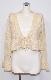 Frill Hem Ribbon Knit Cardigan (cream)