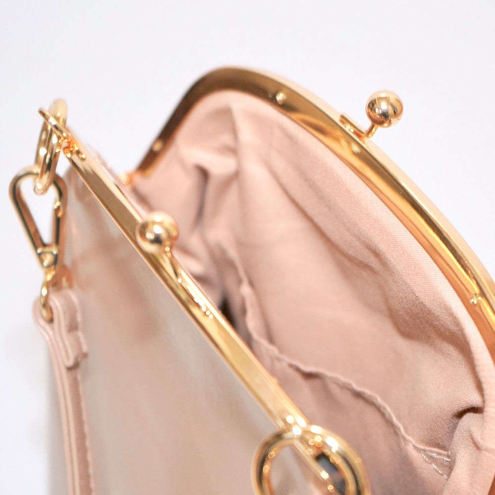 Purse Frame Pocket Shoulder Bag (beige)