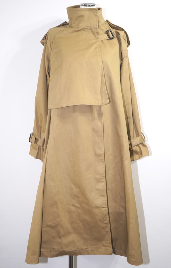 2way Cape Design Trench Coat (beige)