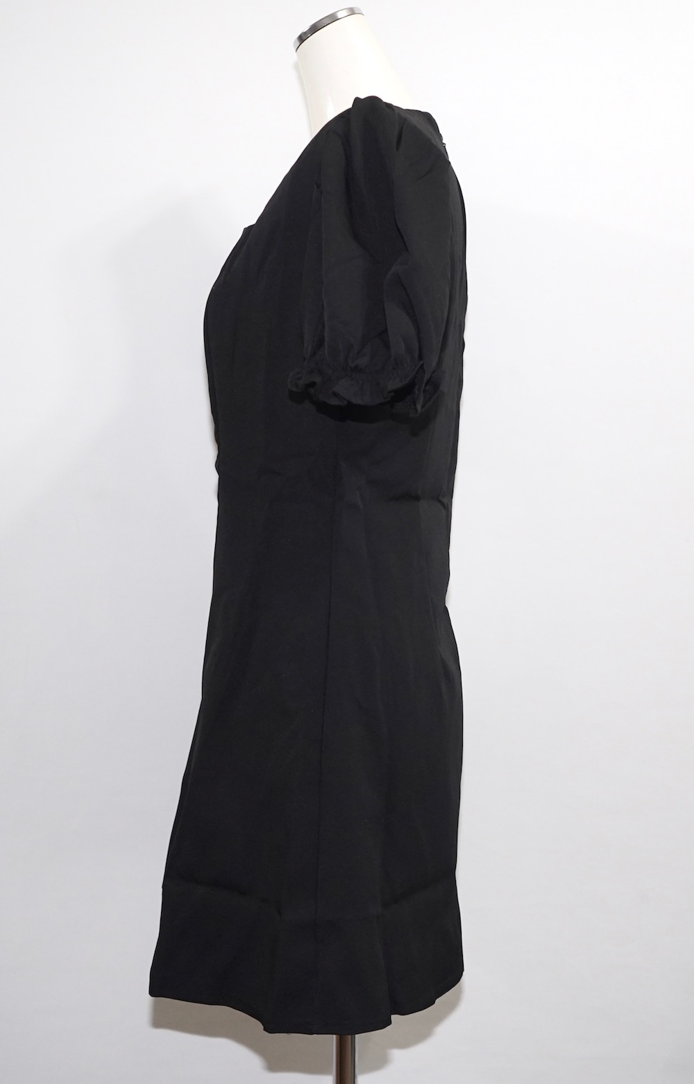 Puffsleeve A-Line Mini Onepiece (black)