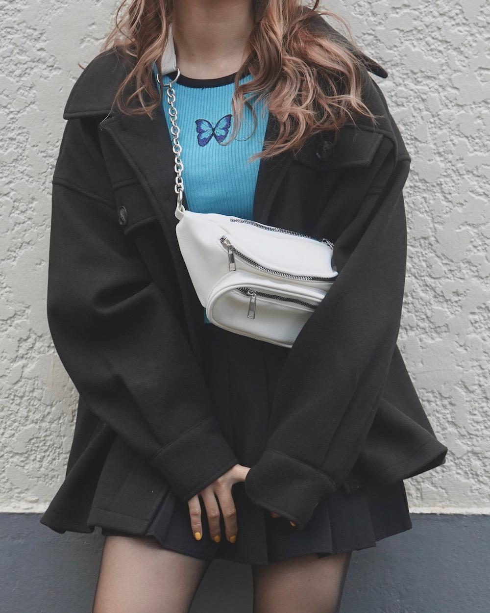 Wool Touch Oversized Jacket(black)