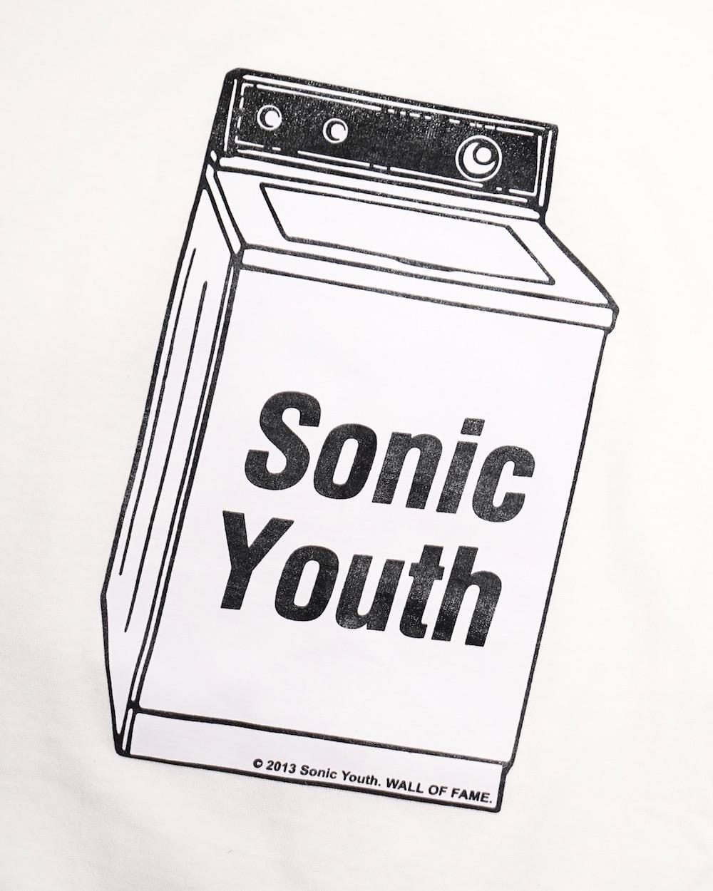 """""""SONIC YOUTH"""" WASHING MACHINE BIG TEE (white)"""