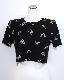 Metallic Butterflies T-shirts (black)