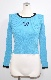 Butterfly Embroidery Rib Knit Tops (blue)