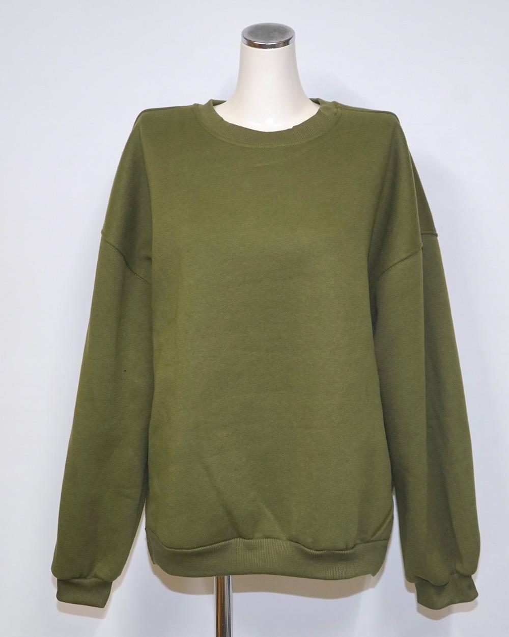 Oversized Basic Sweat PO (khaki green)