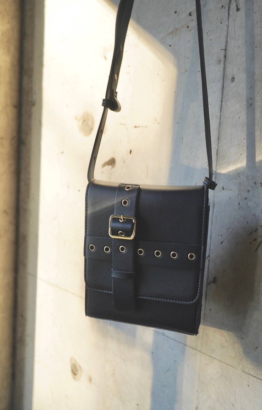 Cross Belted Square Shoulder Bag