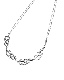 Flame Motif Silver Necklace